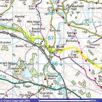 Bell Busk Os Map